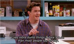Oh Chandler... you are so me... in male form