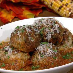the chew | Recipe  | Mario Batali's Big Turkey Meatballs - Polpette Di Tacchino