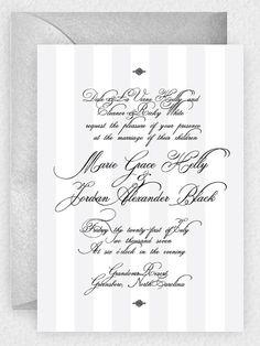 Simply Stated PRINTABLE & Customizable Striped Wedding Invitation DIY