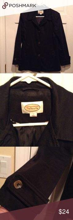 BLACK TALBOTS JACKET Size small in excellent condition. Talbots Jackets & Coats