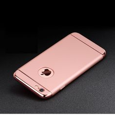 3 In 1 Gold Plated Slim Hard Phone Case For iPhone 5/5S/5SE, 6/6S, 6 Plus/6S Plus, & 7/7 Plus