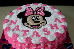Image result for torta de minnie con crema