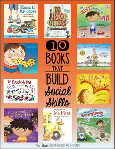 10 Books that Build Social Skills (plus other community read aloud book lists) Teaching Social Skills, Social Emotional Learning, Teaching Reading, Reading Lists, Teaching Kids Manners, Emotional Books, Social Skills Autism, Social Skills For Kids, Social Skills Activities