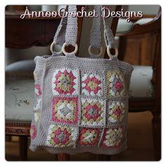 Handbag Tote Bags Purse Squares Crochet Knit