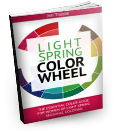 """""""How to Wear Your Light Spring Colors... So That You Look and Feel Beautiful Everyday"""" Watch the video below to learn *exactly* how to use your light spring color wheel and style guide to create unique and amazing outfits... while shopping or staring blankly at your closet... Click through to learn more..."""