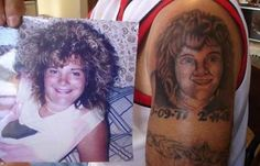 The artist who didn't quite nail the hair. Or eyes. Or nose. | 31 Tattoo Artists Who Should Be Fired