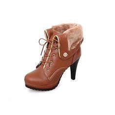 Women's Stiletto Heel Round Toe Ankle Boots (More Colors) USD+$+42.74 #womensshoes #heels #stilettos