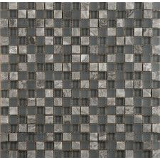 Lucente Glass Mosaic Tile in Grey  WF
