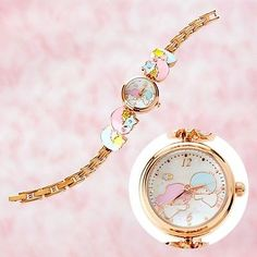 New-Little-Twin-Stars-motif-belt-watch-Kiki-and-Lala-Sanrio-From-Japan