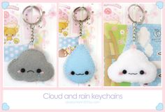 Cloud plush keychains by Oborochann.deviantart.com on @deviantART