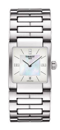 66d8074af47 Tissot Lady T02 Women s Quartz Diamond Index White MOP Dial Watch with  Stainless Steel Bracelet from davisjewelers.com