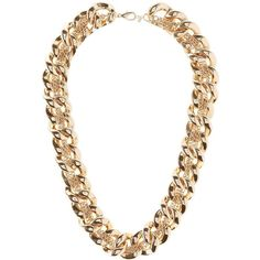 Charlotte Russe Chunky Mixed Chain Necklace ($6) ❤ liked on Polyvore featuring jewelry, necklaces, gold, bib necklace, braided chain necklace, woven necklace, chunky jewelry and gold braided necklace