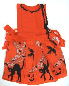 Halloween Crepe Paper Dress from the mid-1920's