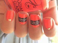 Easy to do and pretty nail design