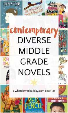 Contemporary, diverse realistic middle grade fiction books for kids ages 9-13. Includes main characters who are people of color, disabilities, LGBTQ, minority faiths, blended families and immigrants. #diversebooks #weneeddiversebooks #childrensbooks