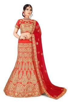 Designer Semi Stitched Embroidered Bangalori Silk Lehenga Choli from Westofashion Green Silk, Pink Silk, Lehenga Online Shopping, Silk Lehenga, Embroidered Blouse, Lady In Red, Amazing Women, Pink Ladies, Fashion Outfits