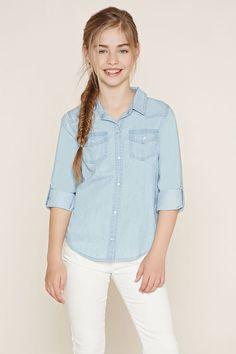 Girls Chambray Shirt (Kids)