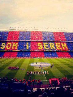 The Camp Nou.