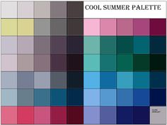 summer color palette - color me beautiful Soft Summer Color Palette, Summer Colors, Warm Colors, Summer Color Palettes, Family Picture Colors, Seasonal Color Analysis, Color Me Beautiful, Stunningly Beautiful, Summer Skin