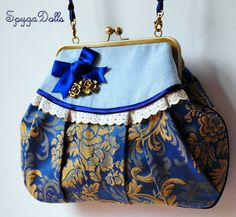 bolso boquilla How To Make Handbags, Purses And Handbags, Diaper Bag Purse, Diy Sac, Spring Bags, Frame Purse, Pencil Bags, Handmade Handbags, Bag Patterns To Sew