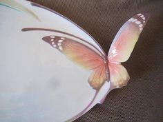 Butterfly Tray Papillon Franz Porcelain 2001 Sculpture Large