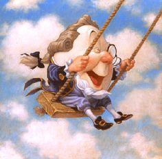 Humpty Dumpty Sat on a Swing