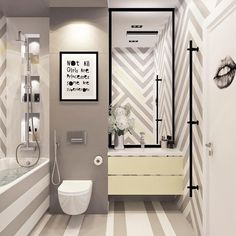 190 отметок «Нравится», 5 комментариев — Maria Shubina (@_masha_shubina_) в Instagram: «Ванная комната в стиле поп-арт для красивой девушки, чью гостиную я показывала ранее. Если вам есть…»