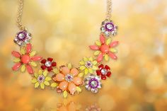 (from Your Ideal Gift) for a guardian angel necklace made with crystals from Swarovski®! Cluster Necklace, Flower Necklace, 2 Colours, Pearls, Diamond, Fashion, Moda, Fashion Styles, Beads