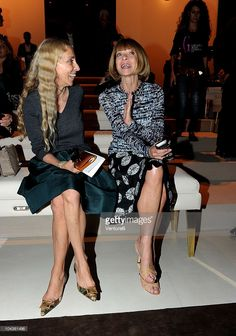 Franca Sozzani and Anna Wintour attend the Gucci Spring/Summer 2011 fashion show during Milan Fashion Week on September 22, 2010 in Milan, Italy