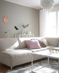 Monaco-kulmasohva • @jaana_karhu • www.finsoffat.fi/tuote/monaco-modulisohva Monaco, Inspirational, Living Room, Bed, Furniture, Home Decor, Decoration Home, Stream Bed, Room Decor