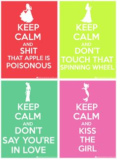 keep calm disney princess style