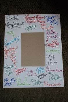 Autographed picture frame-- We're doing this for the sweet 16 instead of a poster... And putting a group picture from the party in the frame