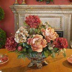 Peony and Hydrangea Silk Flower Arrangement AR109-75