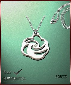 Axcesi 528T Rose pendant  stainless steel 28x27mm   by Axcesi