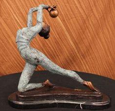 Collett Limited Edition Gymnast Moving Dance Bronze Sculpture Art Deco Figurine | eBay