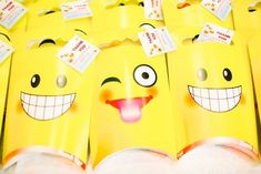 Adam's Emoji-fied Themed Party – Giveaways Emoji Theme Party, Party Themes, Party Ideas, Party Giveaways, Adam S, Emoji Faces, Different Games, Kid Table, Heart For Kids