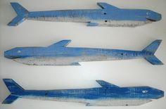 Big Blue Sea Sharks S/3: Beach Decor, Coastal Home Decor, Nautical Decor, Tropical Island Decor & Beach Cottage Furnishings