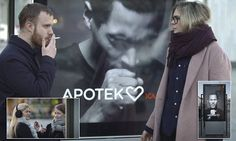A provocative anti-smoking campaign using an animated shows a young man coughing heavily, whenever smokers pass by thanks to embedded smoke detectors.