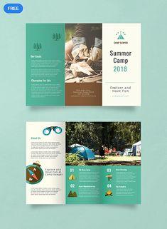 Free Summer Camp Brochure – Dilara - Value activa Travel Brochure Design, Graphic Design Brochure, Brochure Layout, Graphic Design Posters, Free Brochure, Brochure Ideas, Visual Design, Graphisches Design, Layout Design