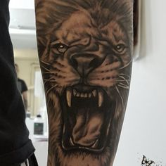 Roaring Lion Tattoo by Zindy Ink