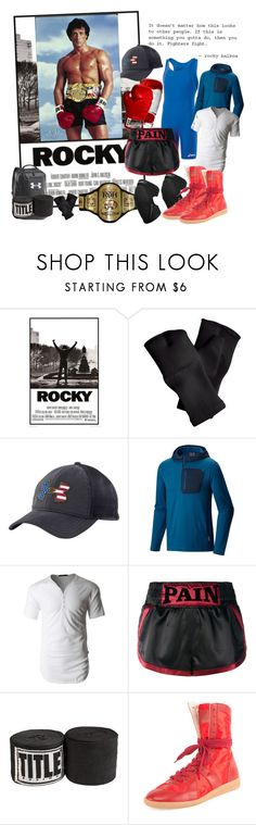 """❖ Red, White & Blue ❖"" by atenaide86 ❤ liked on Polyvore featuring Asics, Under Armour, Mountain Hardwear, LE3NO, Everlast, Misbehave and Maison Margiela"