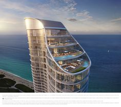 Ritz-Carlton Residences Miami Beach.  East north east view of the penthouse floors.  Stunning views, features and amenities - a standard of living worth envy.