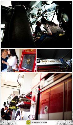 Oakland Fire Fighter Engagement Portraits 6