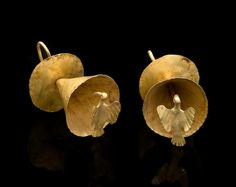 Pair of Nariño Gold Earrings, ca. AD 800 - 1500