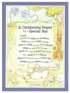 'Christening Prayer' Plaque Boy