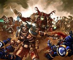 World Eaters and Gal Vorbak? vs Ultrsmarines.