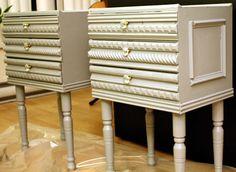 Decorative trimed side tables