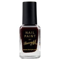 A dark and delicious nail colour - Barry M Nail Paint 115 - Red Black