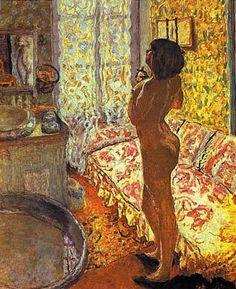 Représentation de la femme à sa toilette par Pierre Bonnard - Eclaircie après la pluie -