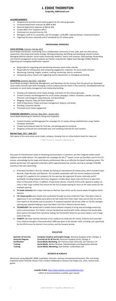 Bobu0027s awesome infographic resume Wordsmith Pinterest - digital marketing resume